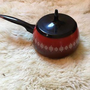 Retro Vintage 60's/70's enamel fondue pot